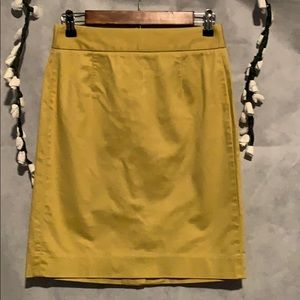 J.CREW STRETCH COLOR GOLD/YELLOW SIZE 0